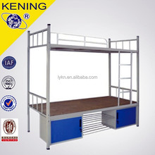 Metal frame bunk bed for hostel use