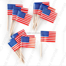Union Jack American Food Promotional Custom Flag Toothpick