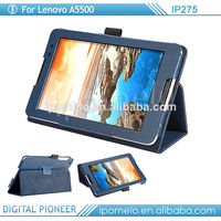Leather cover cases for Lenovo A5500 android tablet 7 inch tablet case for lenovo