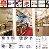 FURNOTEL Great Price Commercial Used Fast Food Restaurant Equipment