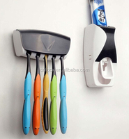 High quality Automatic Toothpaste Dispenser / Brush holder with Squeezer / manual toothpaste dispenser