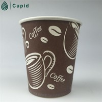 Hot paper vending coffee cups