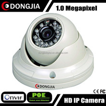 DONGJIA DJ-IPC-3133HD-POE 1.0MP Mini Vandalproof Dome IP Camera Support Notification Alarm and Email Alarm