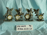 High quality pewter fairy figure home decoration table clock