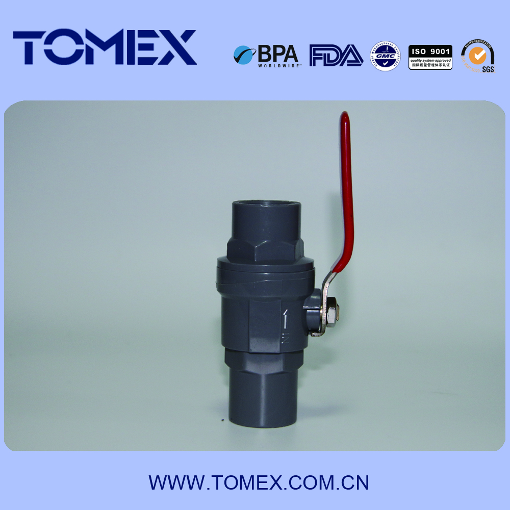 pvc raw material stainless steel long handle valve plastic ball valve