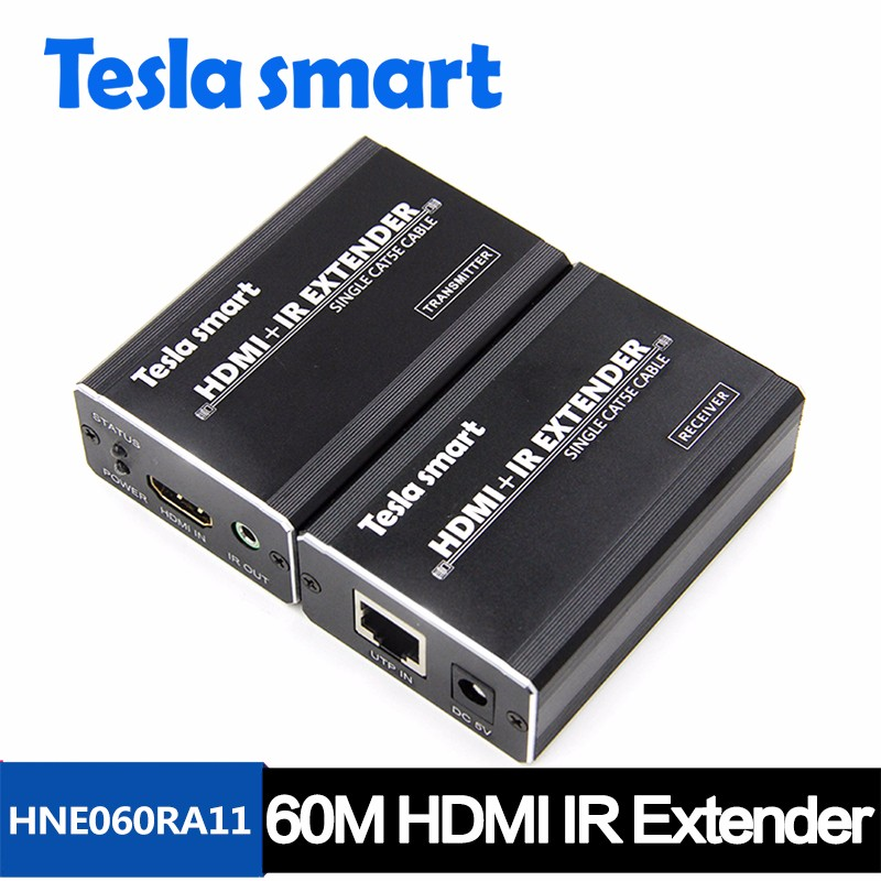 HDMI Extender over USB LAN RJ45 Ethernet HDMI 1.4 Extender 60m Support Wireless IR Remote Extender