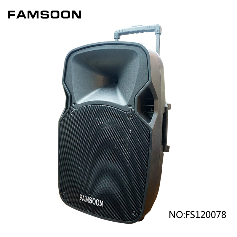 2 wireless microphones big power speaker with USB/SD/FM/BT