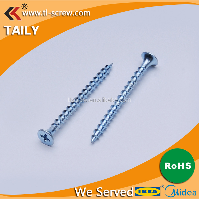 <strong>C1022</strong> Zinc Plated Hardened Chipboard Screw