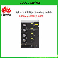 China manufacture 100G Layer 2 to Layer 4 network intelligent routing switch with PoE for Enterprise Huawei S7712