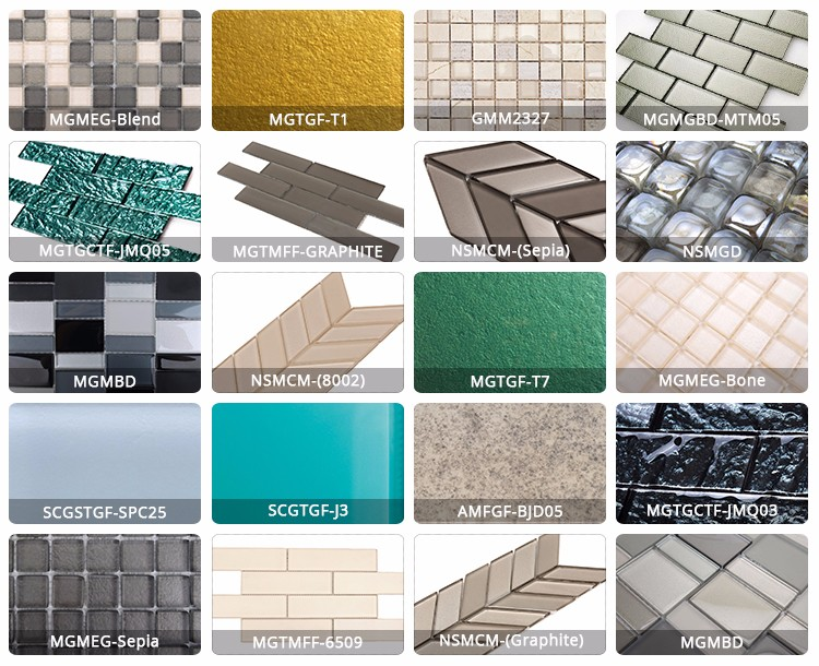 BJD Glass and Marble material Square Zero water absorption Glass and Marble Mosaic