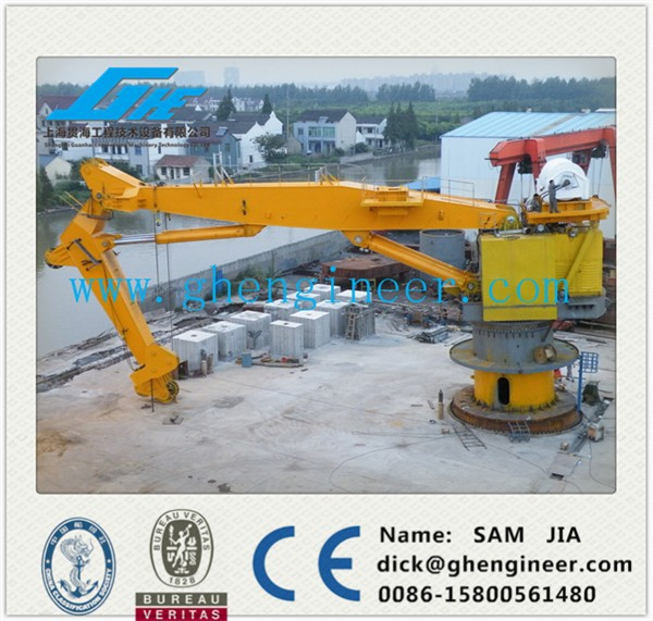 Hydraulic Port Marine Crane lifting heavy tons materials easy handling shanghai supplier