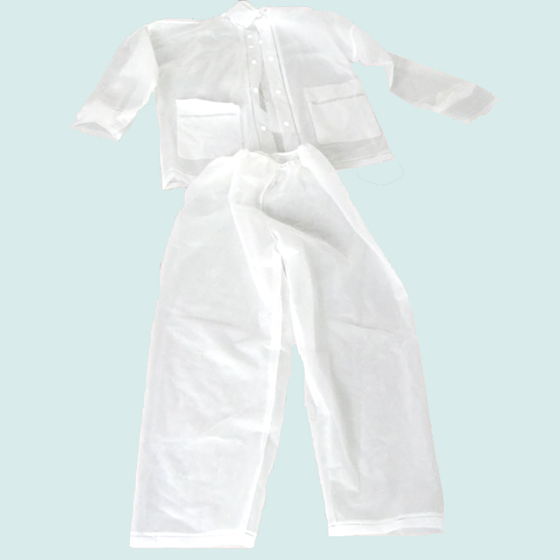 water proof clear plastic rain suit one piece