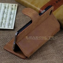 retro wallet leather case for iphone 6 with stand and card holder, hot selling phone case, china product