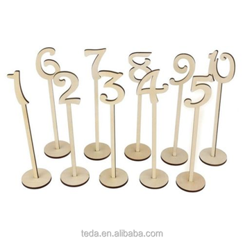 Freestanding tall 25cm wedding table number