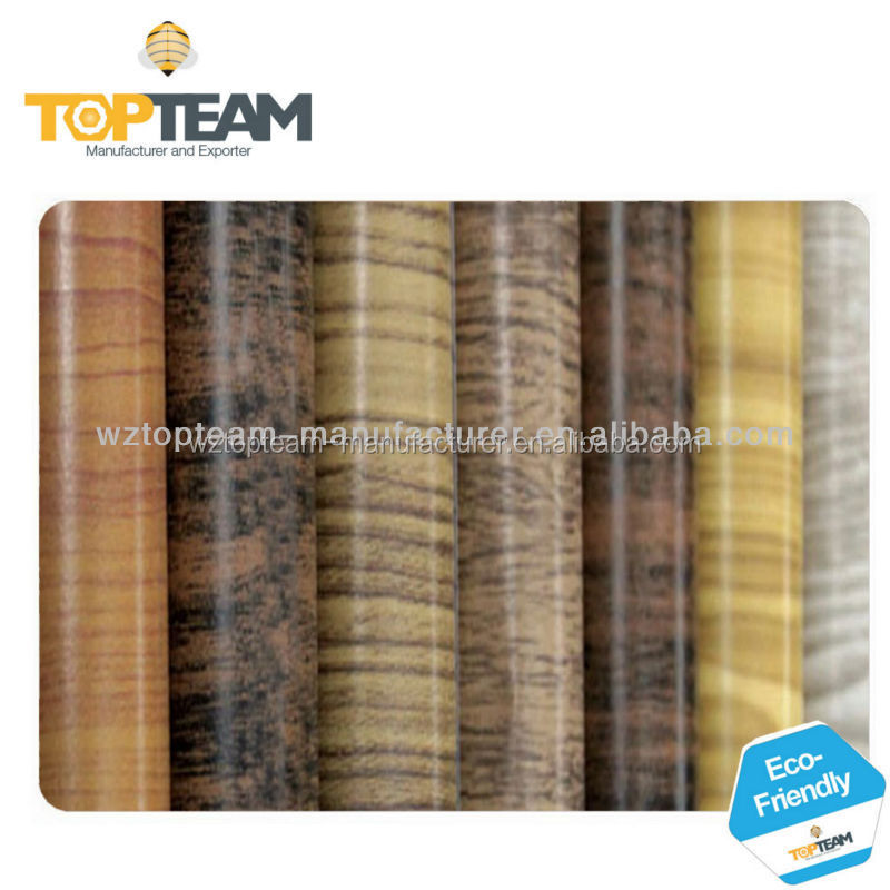 Self adhesive wood grain vinyl film furniture decoration pvc wall paper film - Rouleau vinyl adhesif ...