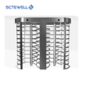 Automatic Access Turnstiles 304 Stainless Steel Full Height Turnstile