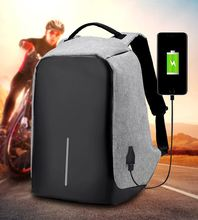 Security Cut-Proof Anti Theft BackPack Anti-Shock USB Charging Laptop Bag