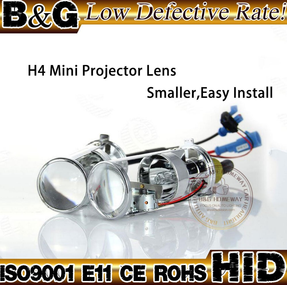 B&G Hot Sell in Thailand and Vietnam H4 Motorcycle Bi xenon Hid Kit H4 Flex Mini Hid Projector Lens 6000k with Small Volume