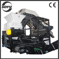 Double shaft drawing plastic shredder and crusher
