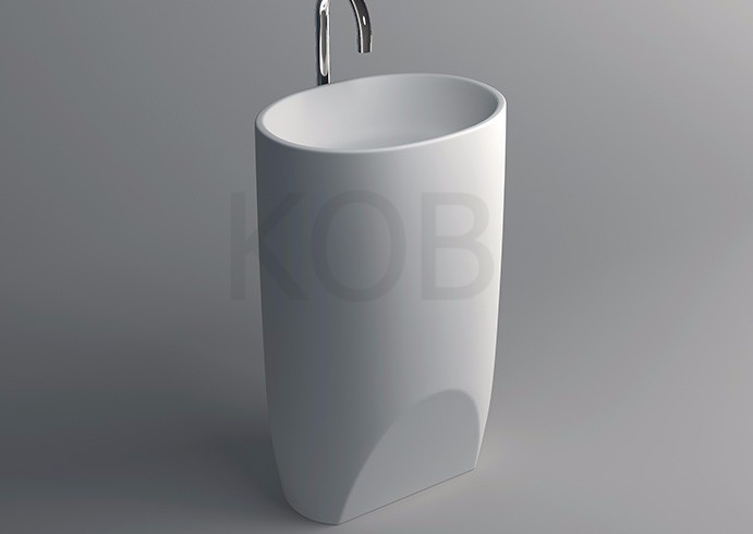 CK3009 Professional Manufacture 100% Acrylic Basin Free Standing Washbasin Used  Pedestal Sink