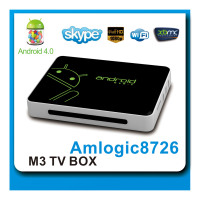 AML8726-M3 dvb s2 android tv box dvb-t 1G/4G with 2.4G Remote Control