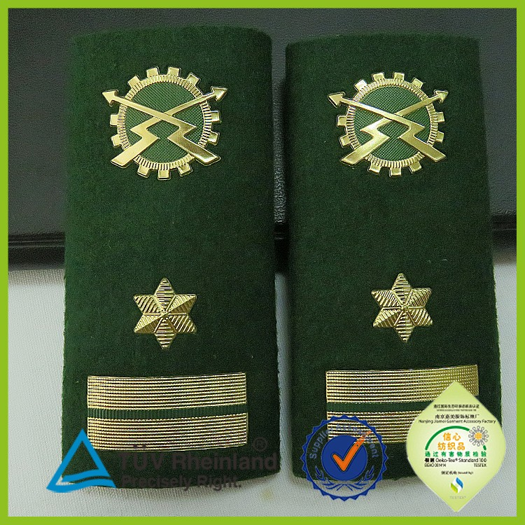 OEM new military uniform epaulette shoulder board rank