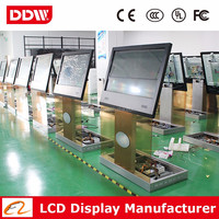 "Factory drop ship 47"" LED backlit kiosk floor stands computer kiosk flexible touch screen display DDW-AD4701TKPC"