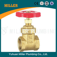 "ML-1008 italy gate valve 3"" brass knife gate valve with pneumatic actuator"