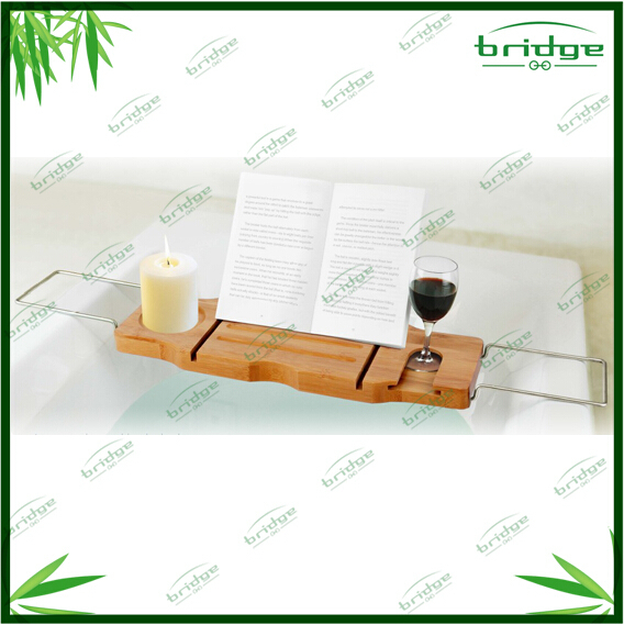 Hot sale Modern design Bamboo bath caddy / bath caddy tub caddy / bamboo bathtub tray