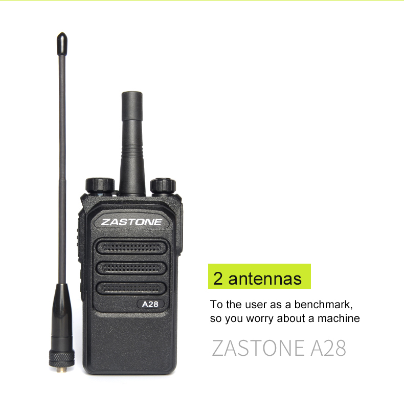 New Zastone A28 UHF Ham Radio 10 Watt 2 way radio 400-480MHz Walkie talkie