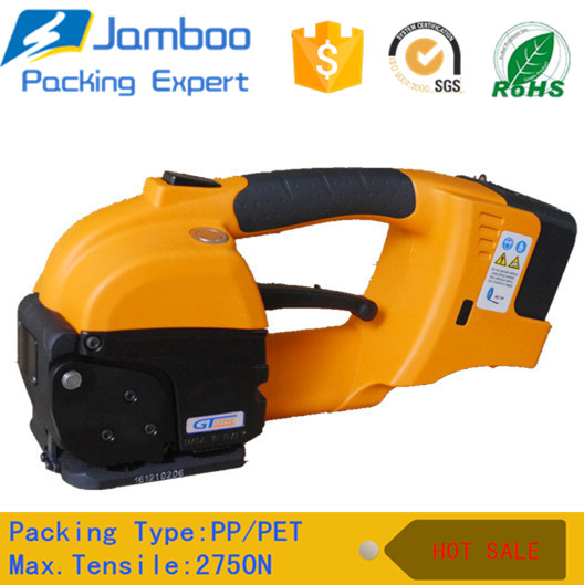 Battery cutting machine packing tool for plastic packing straps belts