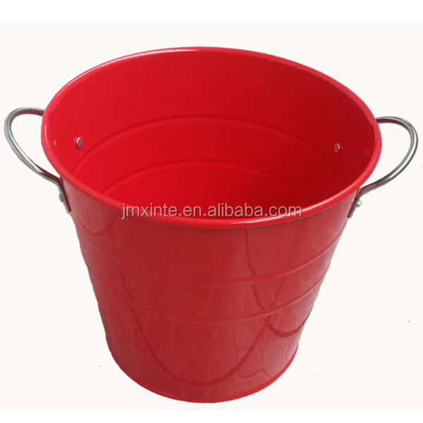 1 liter to 15 liter colored galvanized garden water metal flower pot