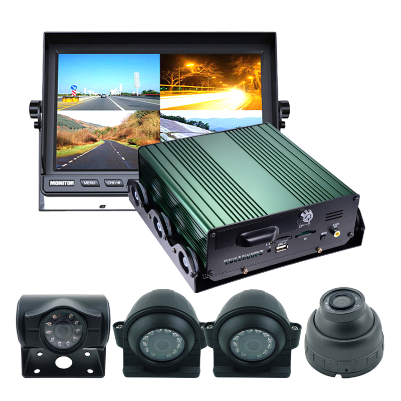New 4ch 720p 3g 4g wifi car video recorder with gps for bus car truck taxi