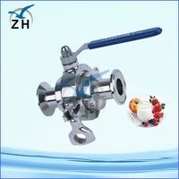 sanitary ball valve gear operated