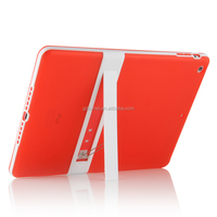 Ultra slim shockproof solid PC hard plastic case polycarbonate cover with built-in kickstand for ipad air 2