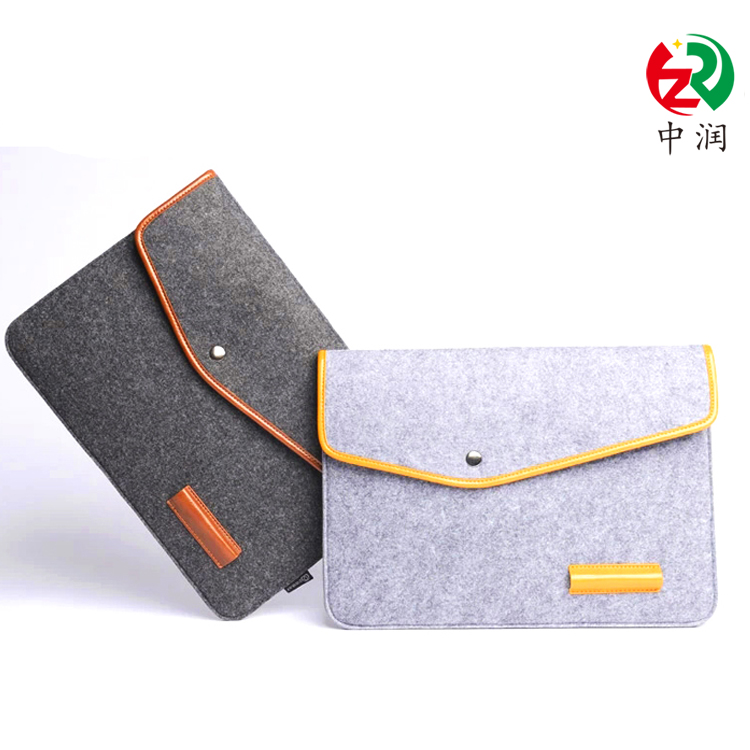 Wholesale high quality business felt tablet case / sleeve travel bags with compartments