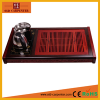 2016 home office wood tea tray with electric induction cooking and stainless steel cattle
