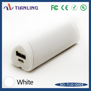 Professional manufacturer power bank lipstick portable white