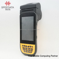 High Industrial Class handheld communication devices gps handheld pda with thermal printer