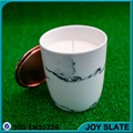ceramic soy candle with copper lid