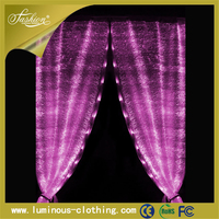 illuminated led light decorative ball chain curtains for doors
