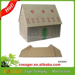 Factory directly wholesale house shaped cardboard box, hot sale house shaped cardboard box