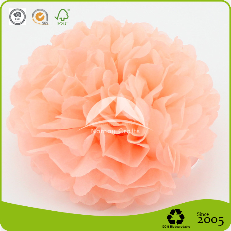 Red Hanging Tissue Paper Flowers Ball for Wedding Decoration