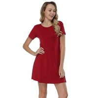 Hexin New Design Red Short Sleeve Ladies Elegant Round Neck Long Sleeve Sexy Midi Dress