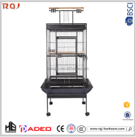 Parrot cages kennel!Metal black Steel iron african Carrier & House Type and Pet Cages
