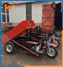 Large Wholesales hydraulic mini electric dumper moped cargo tricycle