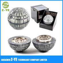 Death Star Grinder With BONUS Kief Scraper - Herb Spice & Tobacco Grinder Tool With Pollen Catcher - Weed Accessories