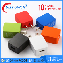 Colorful 5V 1A Single Port Flat Wall Mount Travel Usb Charger for Cell Phone