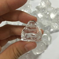 Natural Crystal Carved Laughing Buddha Carving