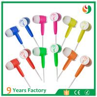 Best selling custom logo wired stereo earbuds earphone
